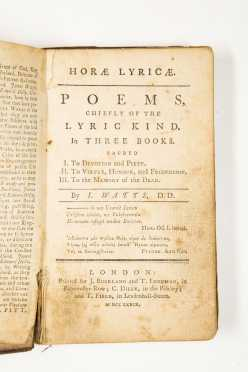 Isaac Watts, Two 18th Century Titles: Logic, Poems (1779)