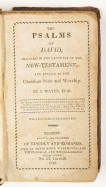 The Psalms of David -- Isaac Watts -- Two Editions