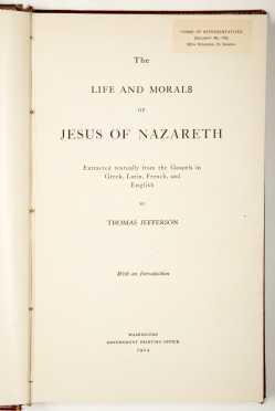 Thomas Jefferson -- Jesus of Nazareth -- 1904