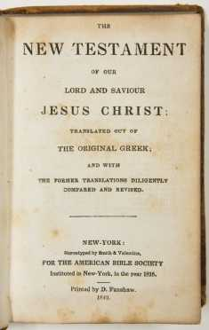 Two Small 1840's Bibles