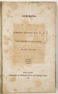 Sermons, Timothy Dwight 1828, and Miniature New Testament