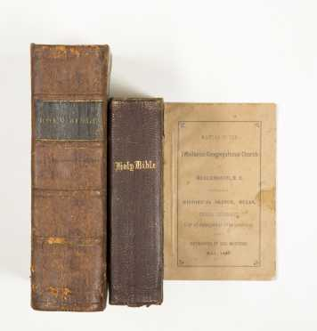 Two 19th Century Bibles, and two other titles