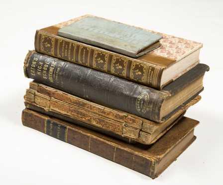 1812 New England Primer, plus Four Antique School Books