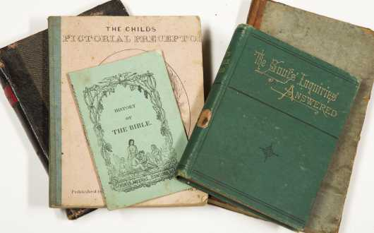 5 Small 19th Century Books --Noah Webster