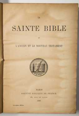 French Bible, 1908
