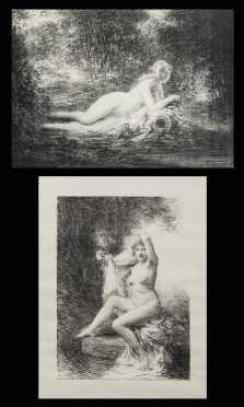 Henri Fantin Latour, French (1836-1904)  Two Lithographs
