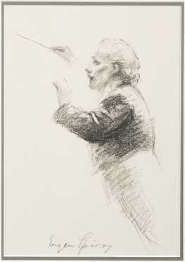 Eugene Spiro (1874-1972), pencil and charcoal