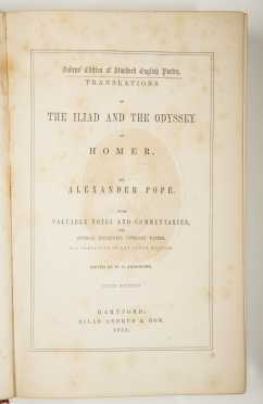 Pope's Iliad and Odyssey of Homer, 1854