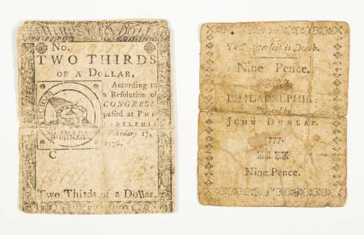 18th Century Colonial Money