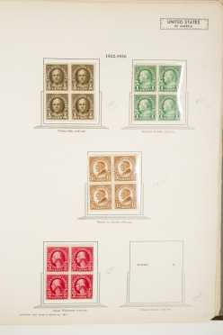 Register Issue Book C, Airmail US Blocks of 4 and plate blocks; regular issue plus airmail 1930's blocks and plate blocks, outstanding Kansas and Nebraska blocks.