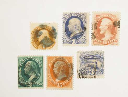 23 Classic US Stamps ranging from Scott 112 184 all used in excellent condition.