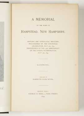 N.H. Town Histories - Lancaster - Hudson - Hampstead
