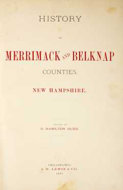NH County Histories, Hurd, 2 Titles - Merrimack & Belknap, Rockingham & Strafford