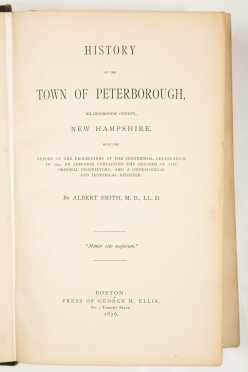 NH Town Histories - Jaffrey, Dublin, Peterborough, Walpole