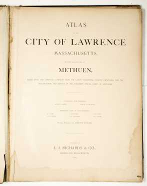 Large Atlas City of Lawrence 1896