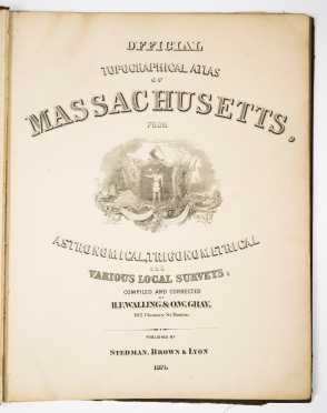 Official Topographical Atlas of Massachusetts, 1871
