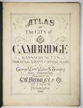 Atlas of Cambridge, Massachusetts, 1916