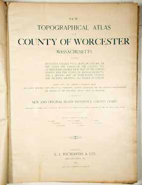 Atlas of the County of Worcester, Massachusetts, 1898