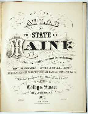 Colby's Atlas of Maine, 1886-7.