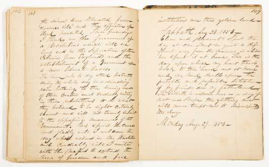 Manuscript Travel Journal, New York to Australia, Gold Rush 1853