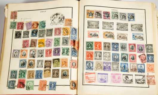 Lot of Five Stamp Albums