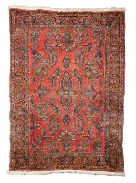 Red Sarouk Small Room Size Oriental Rug
