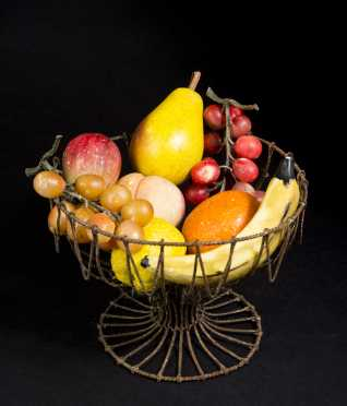 Wire Basket and Stone Fruit