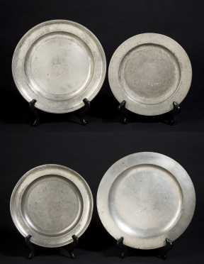 Four Pewter Plates