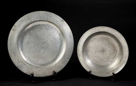 Two Pewter Serving Platters