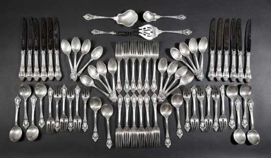 """Lunt"" Sterling Silver Flatware Set for 12"