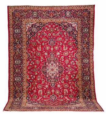 Contemporary Kashan Style Room Size Oriental Rug