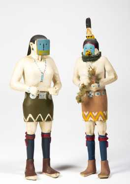 A Pair of Late Period Kachina Dolls