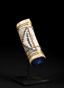 A Superb Hupa or Karuk Elk-Horn Dentalium Purse