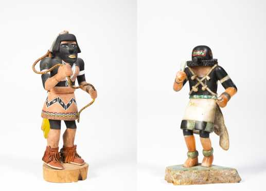 Two Late Period Kachina Dolls