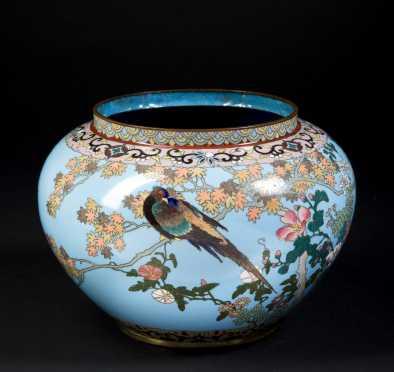 Chinese Cloisonne Bulbous Bowl