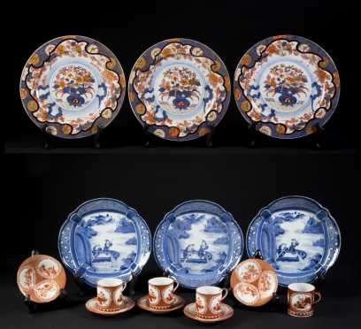 Two Sets of Chinese Porcelain Plates