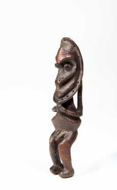 A Fine Lower Sepik or Ramu figure, Papua New Guinea.