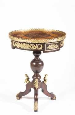 French Style Inlaid Lamp Stand