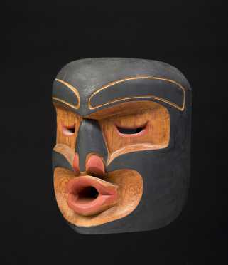 Northwest Coast Carved and Painted Cedarwood Mask, Henry Hunt