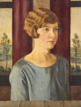 Portrait Painting of a Young Woman