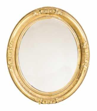Oval Gilded Empire Mirror