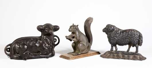 Three Cast Iron Animals