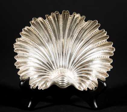 """Buccellati"" Sterling Silver Oyster Shell Dish"