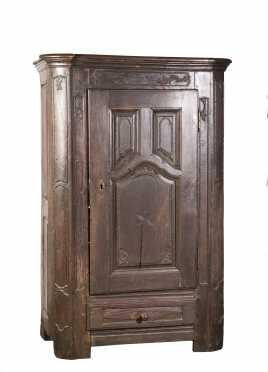 French Oak Single Door Cupboard Dated 1773