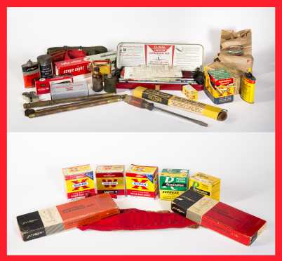 Cleaning Supply and Ammunition Lot