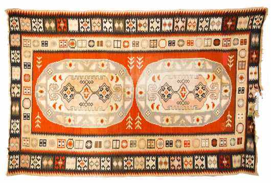 Kurdish Kilim Large Scatter Size Oriental Rug