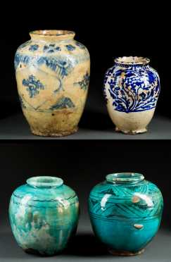 Four Persian Decorated Jars