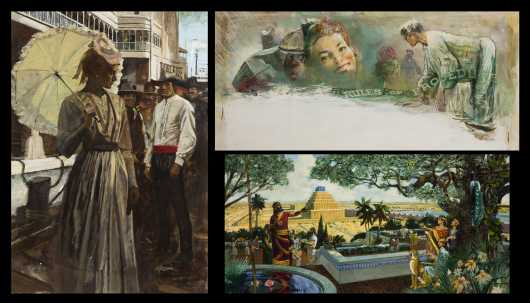 Three David J. and Earl Blossom Illustrations, NY, Conn., Illinois (1891-1970) (1927-1995)