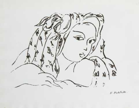 "Henri Matisse, French (1869-1954), ""Head of a Woman"""
