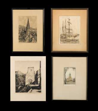 Four Etchings, Chauncey Ryder